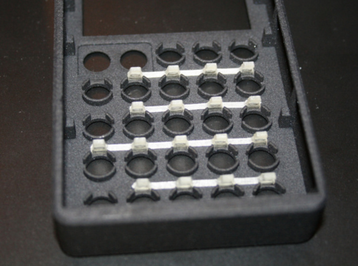Light guides for PO case 3d printed