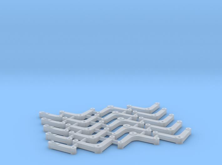S Scale Semaphore Bellcranks 3d printed