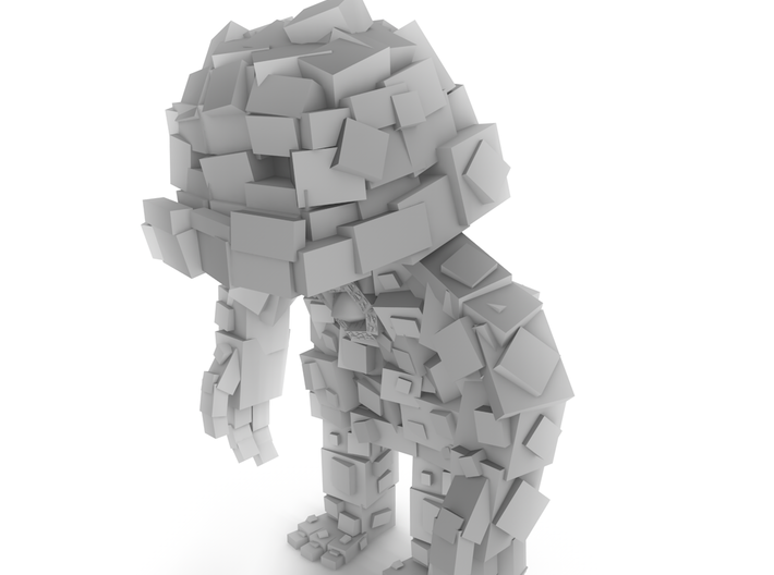 Minecraft Rock Monster 3d printed