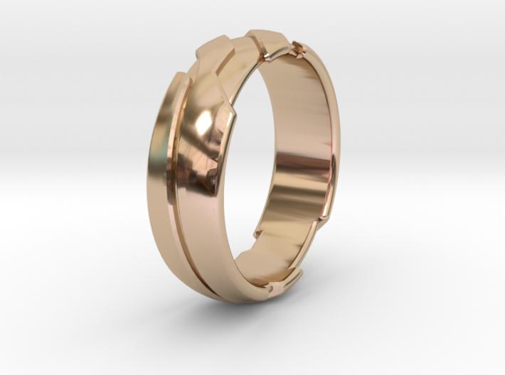 13 - G - US 3 3-8 Futuristic Ring 3d printed