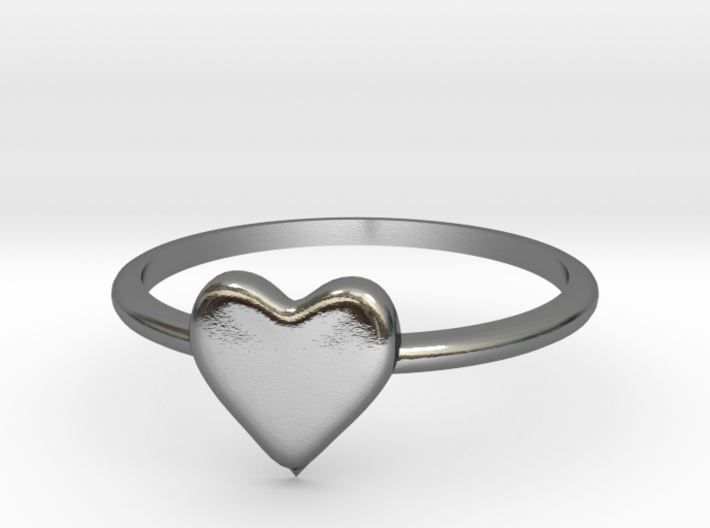 Heart-ring-solid-size-9 3d printed