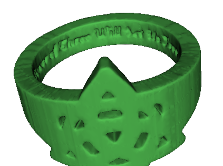 """Charmed"" Inspired Ring Ring Size 7 3d printed Shapeways Rendering"