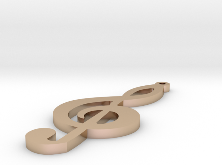 1.8 Treble Clef Earring 3d printed