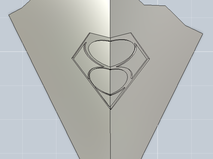 1/6th Smallville - Crystal Of Air 3d printed