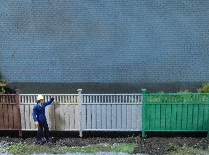 Privacy Fence 3d printed Panels painted with acrylic paint