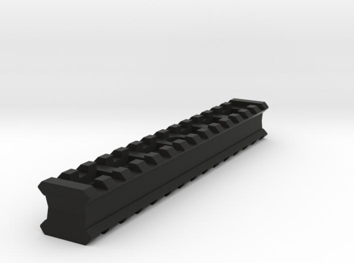 Back-to-Back 14-Slots Picatinny Rails Adapter 3d printed