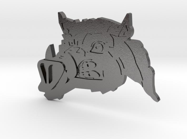 Renegade Pigs Motorcycle Club Badge boarhead v2 3d printed