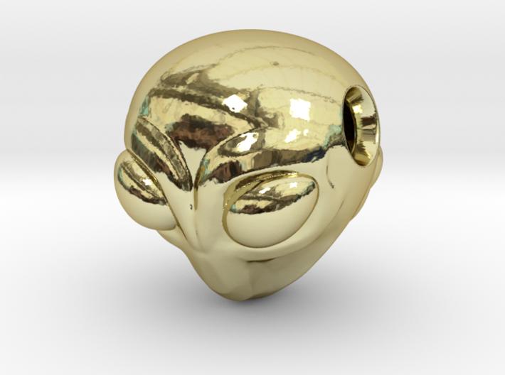 Reversible Alien head pendant 3d printed