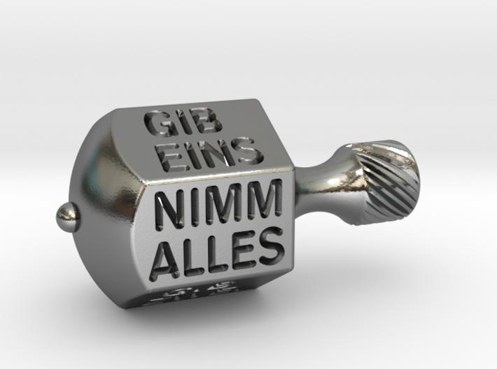 Nimm-Gib-Kreisel 3d printed Silberner Nimmgib