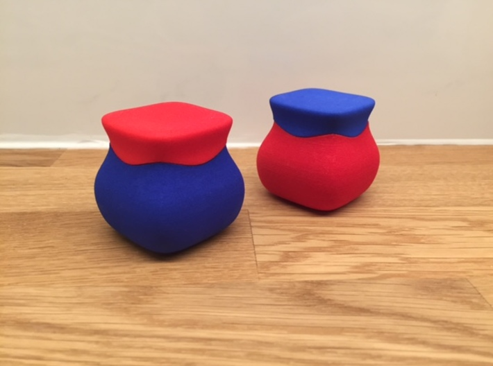 Jewel ring or cufflink keeper (LID only) 3d printed Shown are two lids and two bases.
