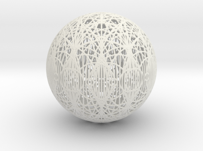 Epicycloid, 12 cusp, round wires 3d printed