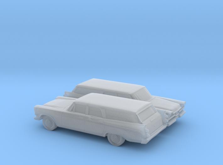 1/160 2X 1957 Dodge Royal Station Wagon 3d printed