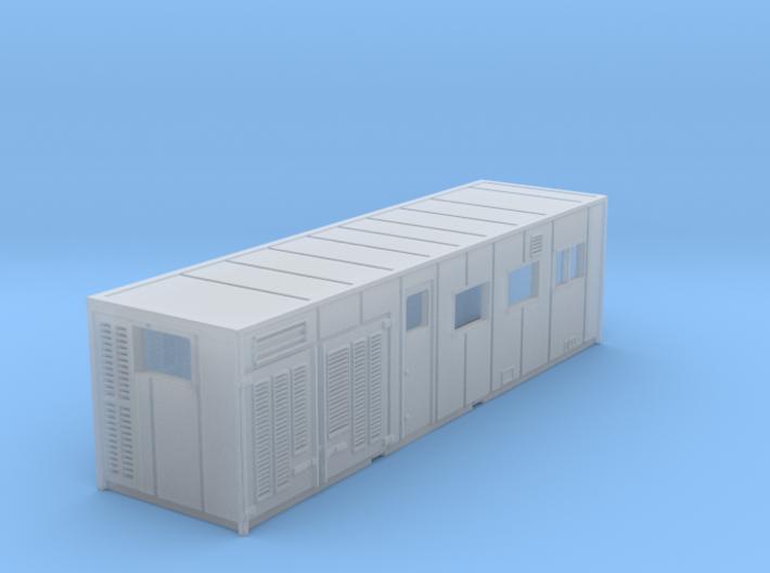 N Gauge Japan Rail Freight Research Cabin 3d printed