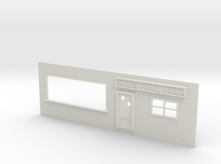 Pool Hall Front 3d printed