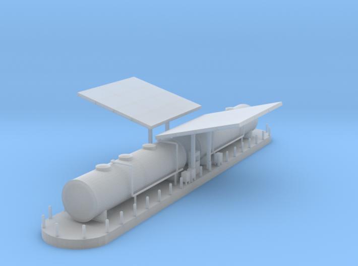 Diesel Fuel Station Z Scale 3d printed Diesel Fueling station Z scale