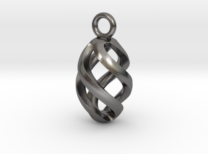 Twisted Oval Pendant 3d printed