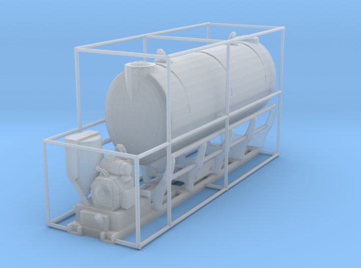 1/87th scale Vermeer MX240 mix 1000 gallon tank 3d printed