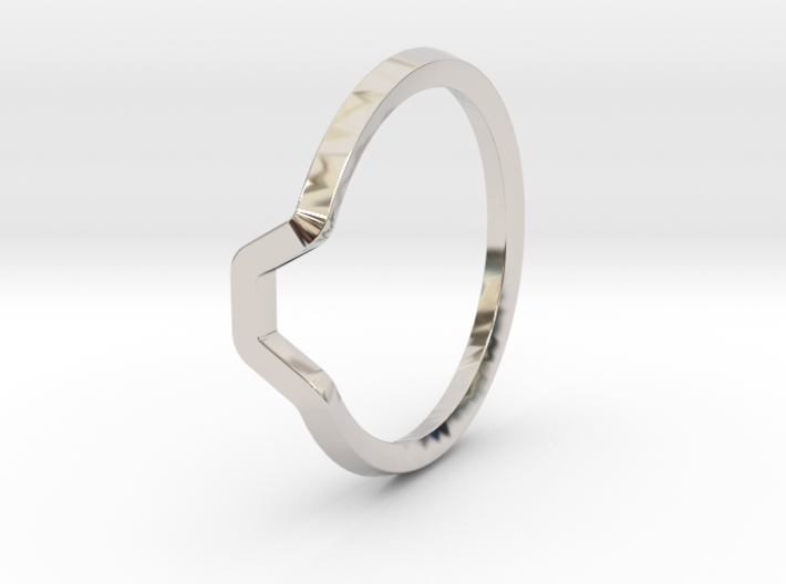 BETTER HALF Ring(HEXAGON), US size 4.5, d=15mm 3d printed