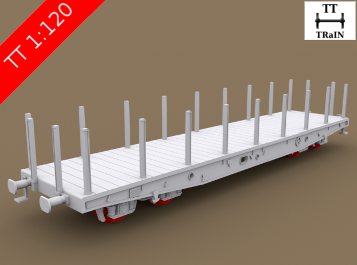 TT Scale Smmps Wagon complete set (EU) 3d printed TT Scale Smmps Wagon complete set (wheelsets not included)