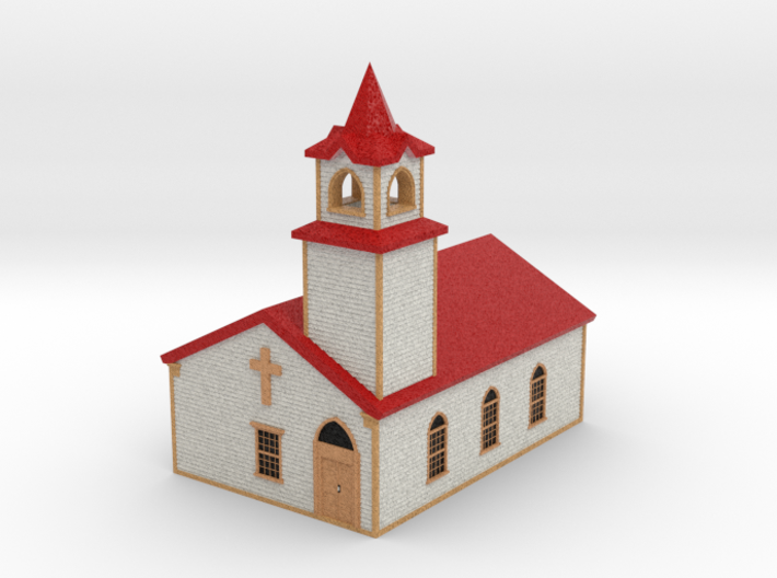 Country Church - Zscale 3d printed