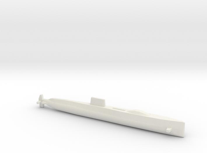 USS Halibut, Full Hull, 1/2400 3d printed