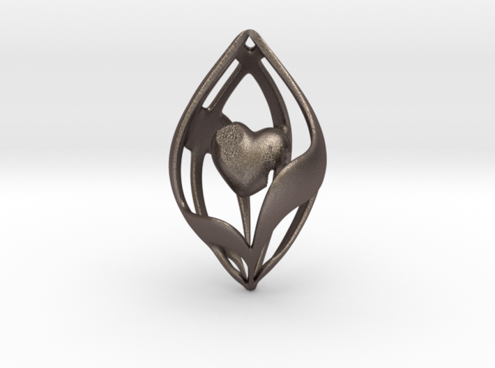 Broken Healed Heart Pendant 3d printed