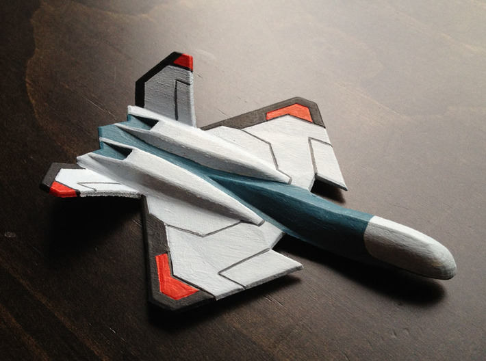 Air Superiority Drone 3d printed Painted model - printed with White Detail and painted with acrylic paints.