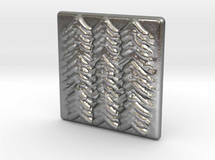 Quilted Sq Charm (Waves) 3d printed