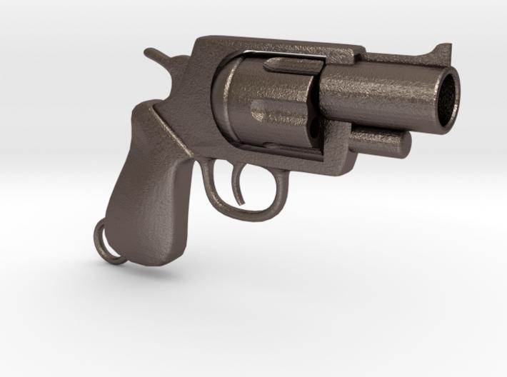 Revolver pendant 3d printed