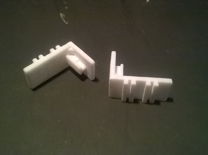 Mini-Z Lateral Body Mount for R8 & 458 3d printed