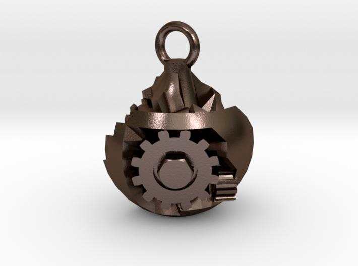 steampunk grenade pendant 3d printed