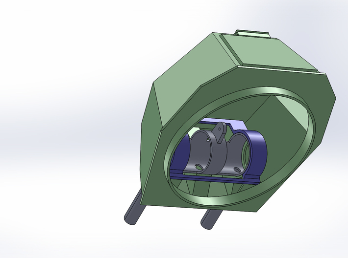 DShKM-2BU  Turret 1:35 scale 3d printed inside view