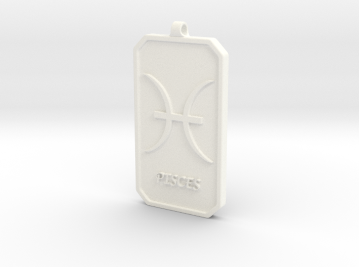 Zodiac Dogtag/KeyChain-PISCES 3d printed