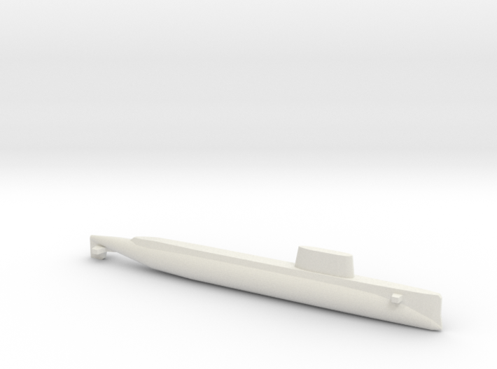 USS Triton (1962), Full Hull, 1/1800 3d printed