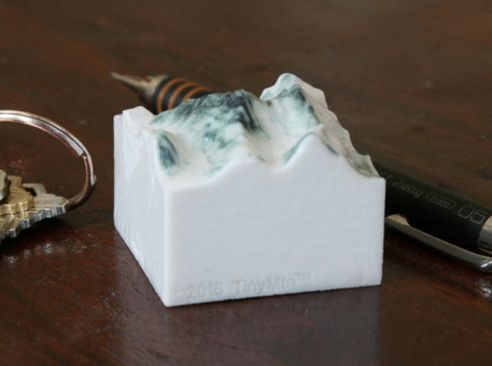 Mt. Everest, China/Nepal, 1:250000 Explorer 3d printed Photo of 1:250000 Everest print, viewed from the West