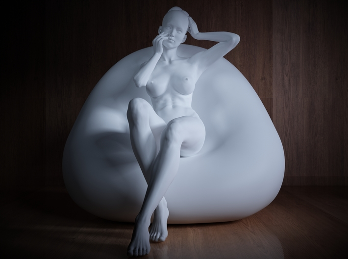 1/32 Girl sitting Chair Part of Girl 012 3d printed