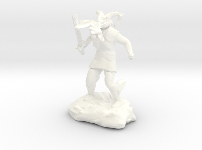 Female Dragonborn Cleric Breathing Lightning 3d printed