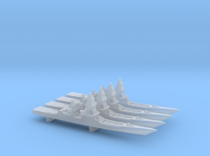 Project 23560E Shkval Destroyer x 4, 1/6000 3d printed