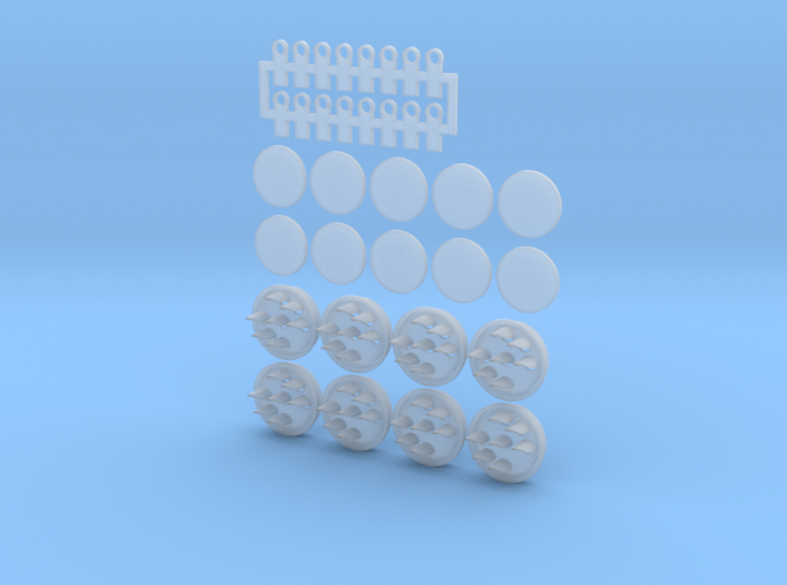 PPR Position Light Signal Target 01. HO Scale 3d printed