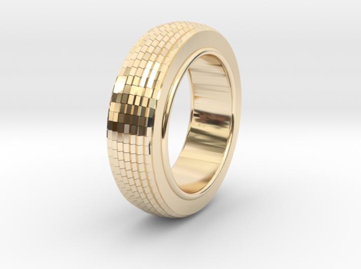 Ø0.650 inch/Ø16.51 mm Prisma Ring Model B 3d printed