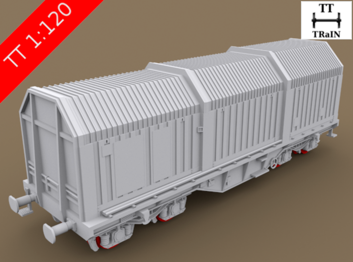 TT Scale Shimms Wagon complete set (EU) 3d printed TT Scale Shimms Wagon complete set (wheelsets not included)