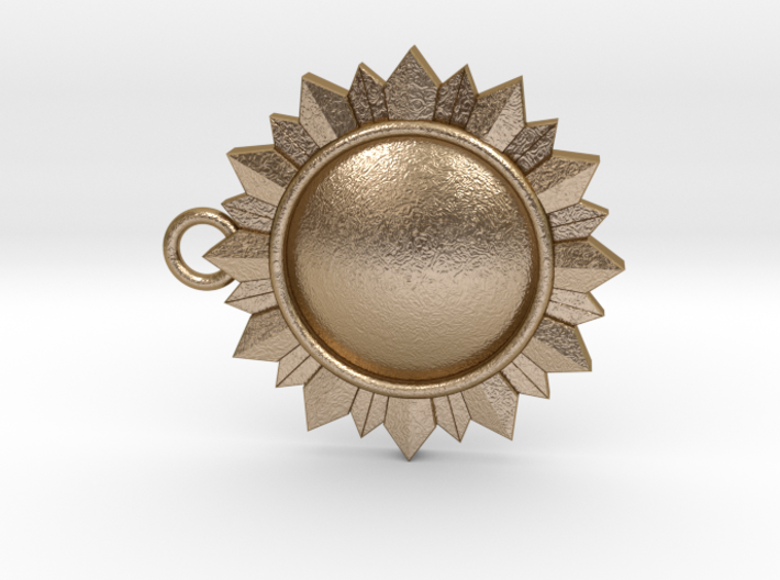 Art Deco Sun Pendant 3d printed