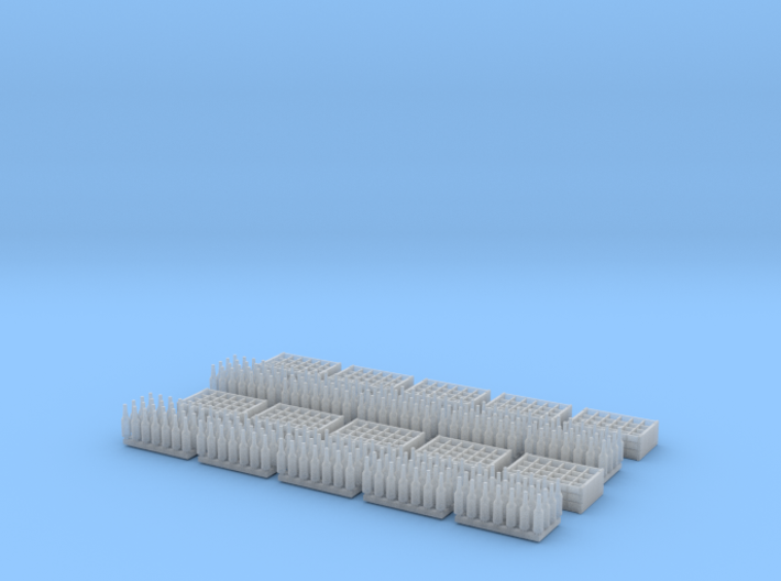 1:35 Bottles and Crates - 280 Bottles/10 crates 3d printed