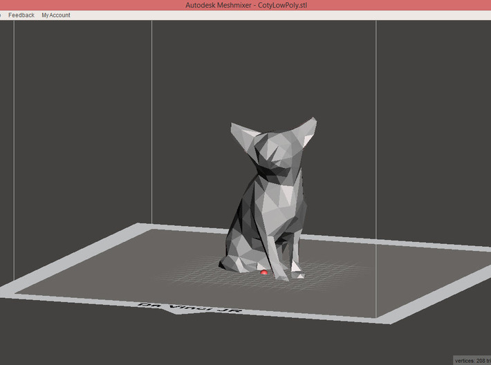 Chihuahua Low Poly 3d printed