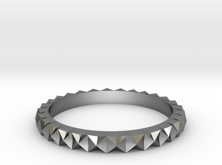 Inverse Diamond Ring Size 8.5 3d printed
