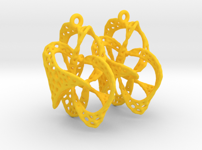 Implosion Earrings 3d printed