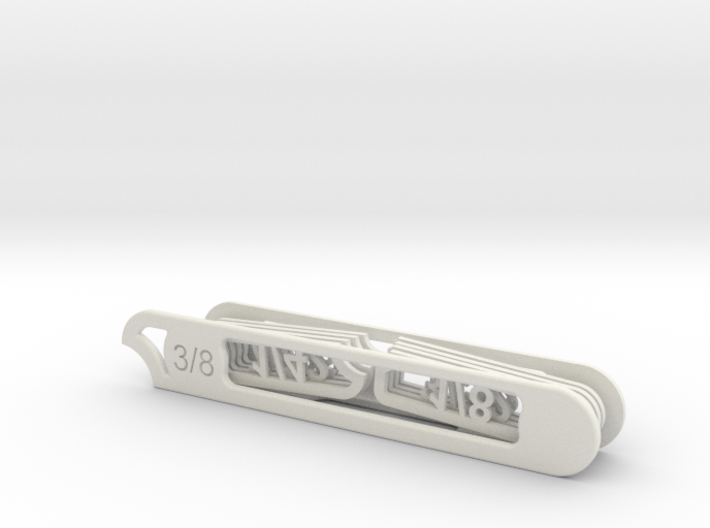 Lab290A Pocket Radius Gauge 3d printed