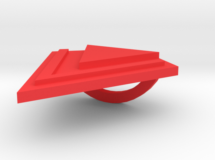 Scarf Holder - Triangle 3d printed