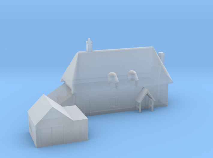 1:700 Scale Parham Village House 3d printed
