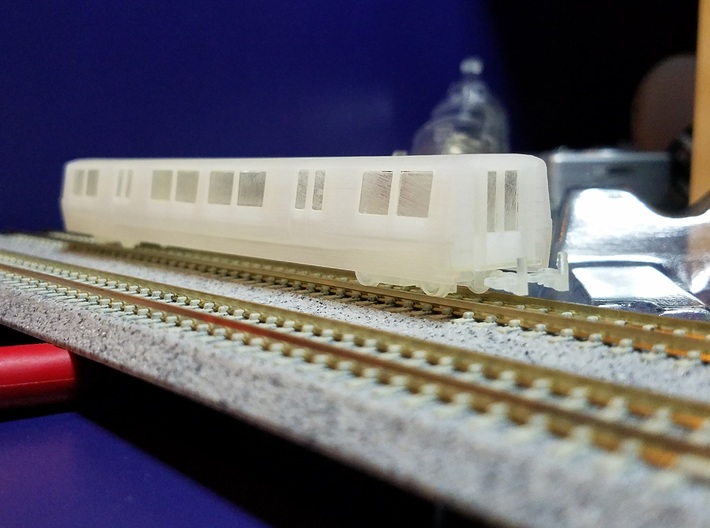 N Scale BART B Car Unpowered 3d printed